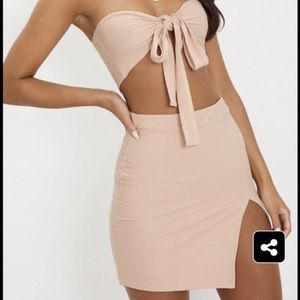 Two-piece Nude Set